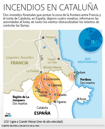 Incendios España