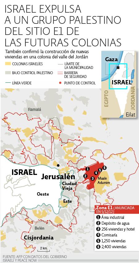 Israel expulsa palestinos de colonia