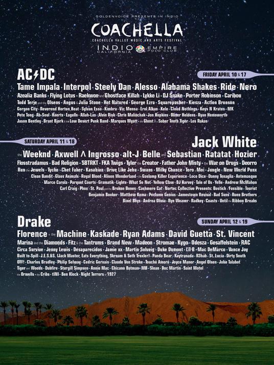 Coachella 2015: Cartel oficial completo