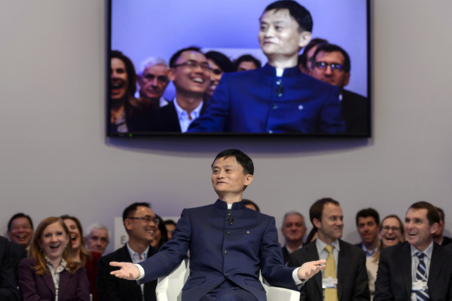 Jack Ma, en Davos. Foto: Reuters