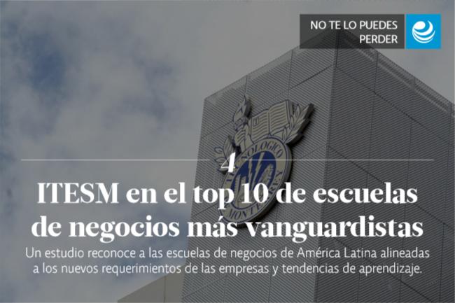 ITESM en el top 10 de escuelas de negocios más vanguardistas en AL