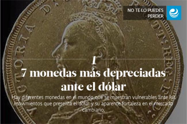 7 monedas más depreciadas ante el dólar