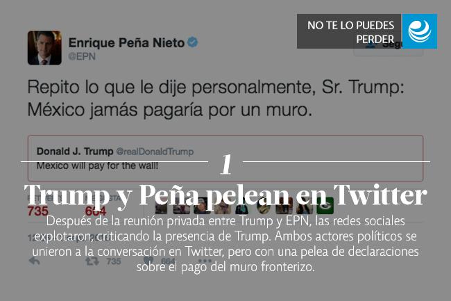 Trump y Peña pelean en Twitter