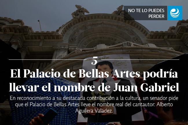 El Palacio de Bellas Artes podría llevar el nombre de Juan Gabriel