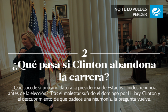 ¿Qué pasa si Clinton abandona la carrera?
