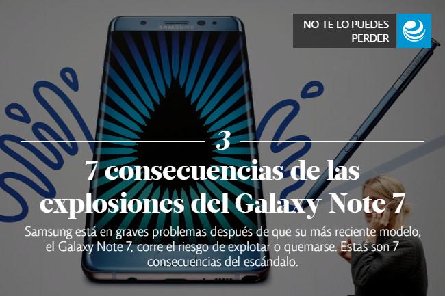 7 consecuencias de las explosiones del Galaxy Note 7