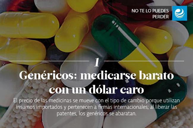 Genéricos: medicarse barato con un dólar caro