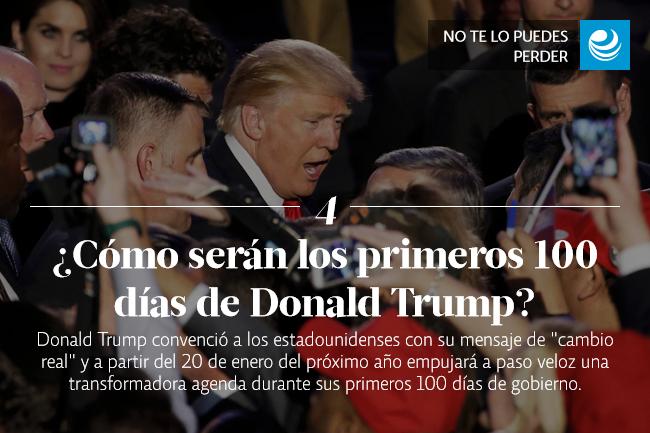 ¿Cómo serán los primeros 100 días de Donald Trump?