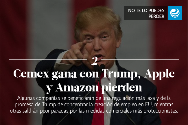 Cemex gana con Trump, Apple y Amazon pierden