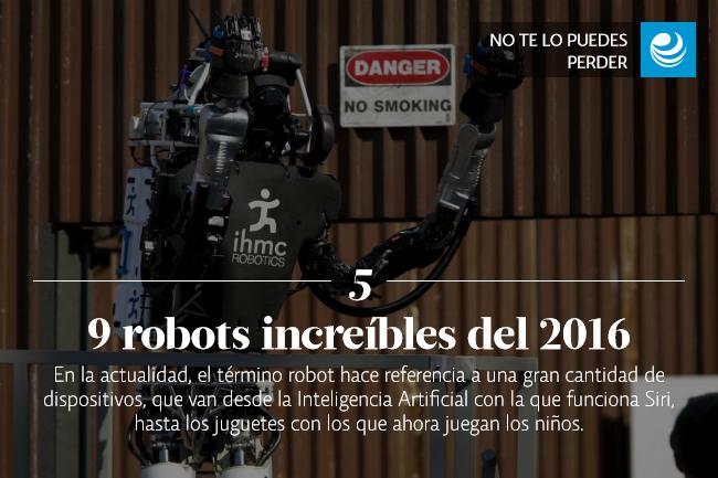 Los 9 robots más increíbles del 2016