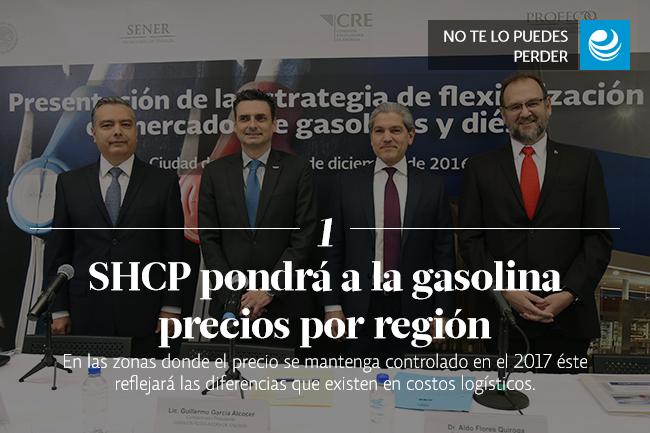 SHCP pondrá a la gasolina precios por región