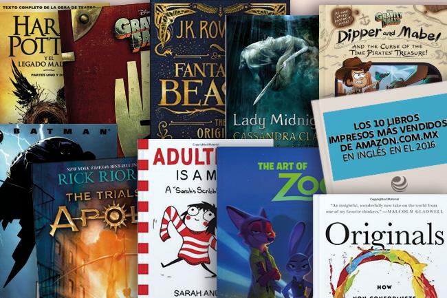 Libros impresos más vendidos de Amazon en inglés