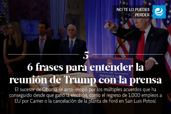 6 frases para entender la reunión de Trump con la prensa