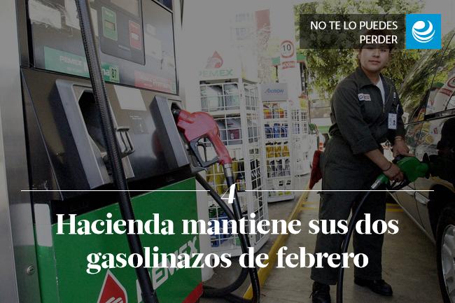 Hacienda mantiene sus dos gasolinazos de febrero