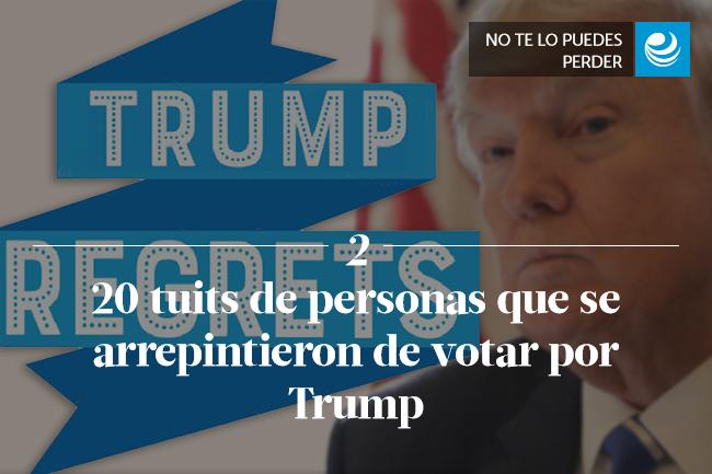 20 tuits de personas que se arrepintieron de votar por Trump