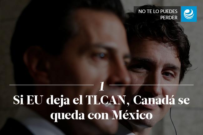 Si EU deja el TLCAN, Canadá se queda con México
