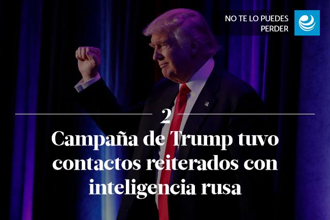 Campaña de Trump tuvo contactos reiterados con inteligencia rusa