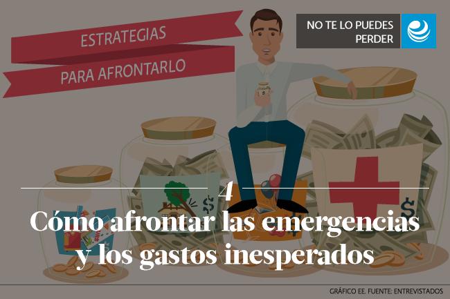 Cómo afrontar las emergencias y los gastos inesperados