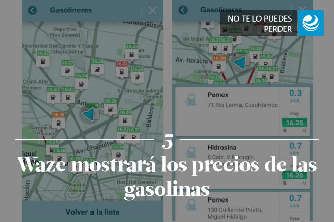 Waze mostrará los precios de las gasolinas