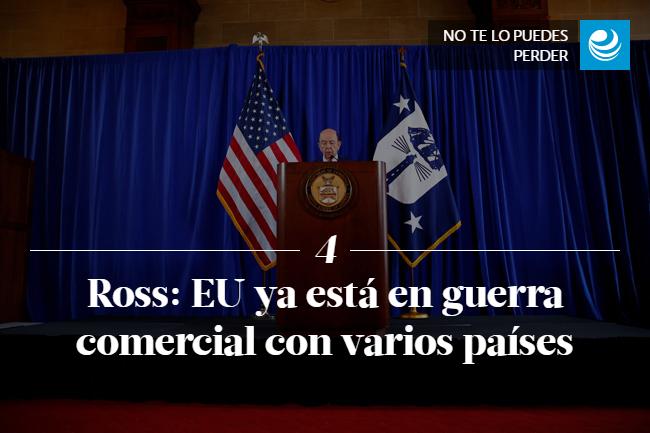 Ross: EU ya está en guerra comercial con varios países