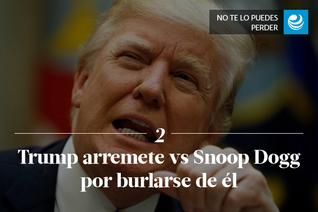 Trump arremete vs Snoop Dogg por burlarse de él