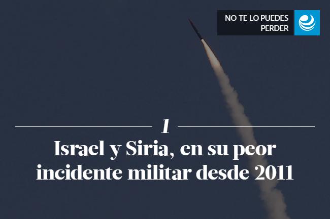 Israel y Siria, en su peor incidente militar desde 2011
