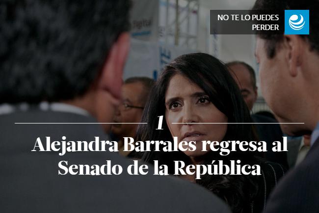 Alejandra Barrales regresa al Senado de la República