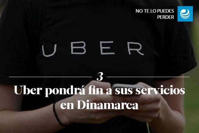 Uber pondrá fin a sus servicios en Dinamarca