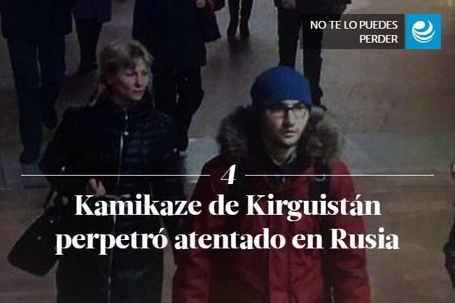 Kamikaze de Kirguistán perpetró atentado en Rusia </p><p>