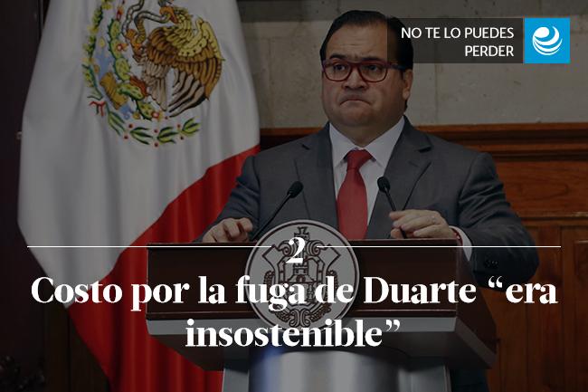 Costo por la fuga de Duarte  era insostenible