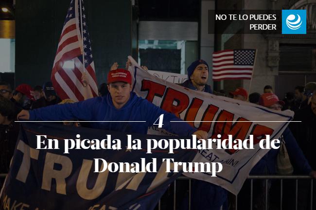 En picada la popularidad de Donald Trump