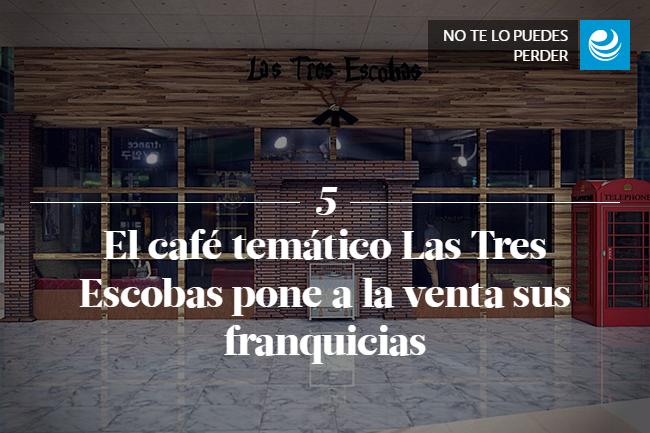 El café temático Las Tres Escobas pone a la venta sus franquicias