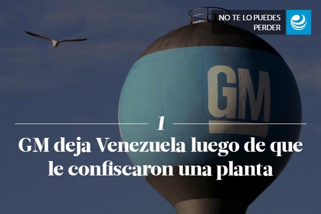 GM deja Venezuela luego de que le confiscaron una planta
