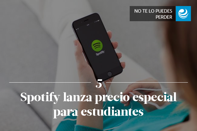 Spotify lanza precio especial para estudiantes