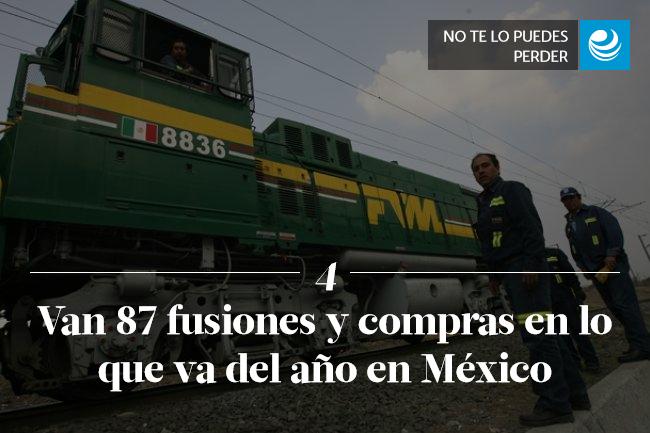 Van 87 fusiones y compras en lo que va del año en México