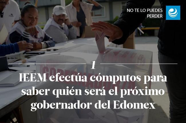 IEEM efectúa cómputos para saber quién será el próximo gobernador del Edomex </p><p>