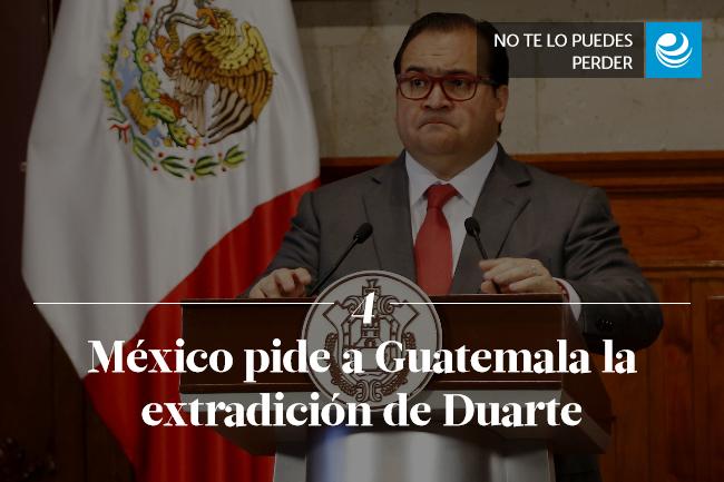 México pide a Guatemala la extradición de Duarte