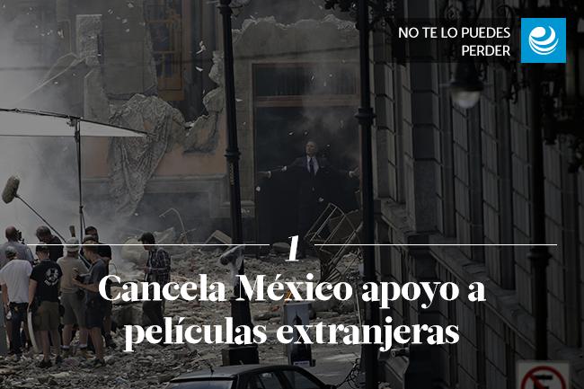 Cancela México apoyo a películas extranjeras