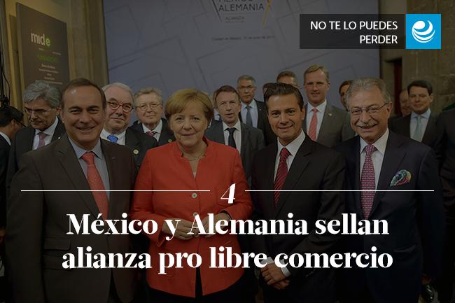 México y Alemania sellan alianza pro libre comercio