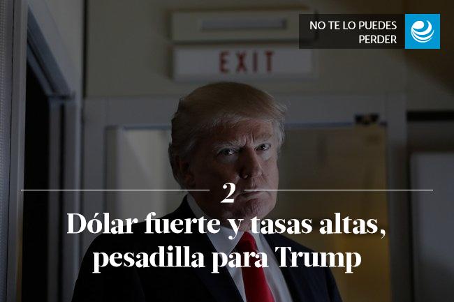 Dólar fuerte y tasas altas, pesadilla para Trump