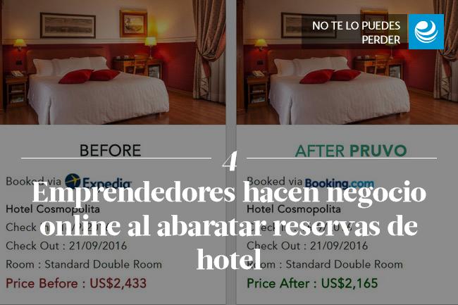 Emprendedores hacen negocio online al abaratar reservas de hotel
