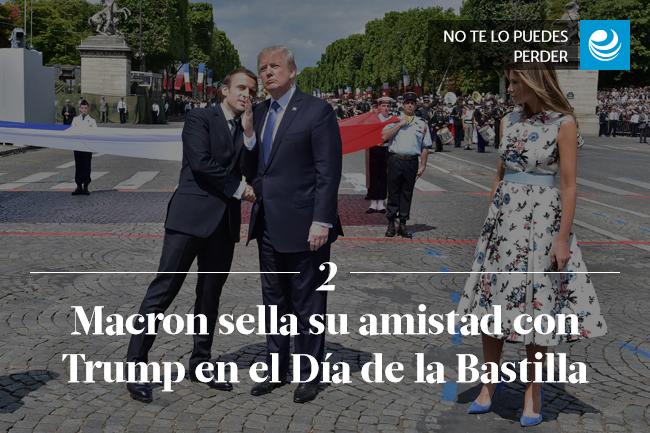 Macron sella su amistad con Trump en el Día de la Bastilla