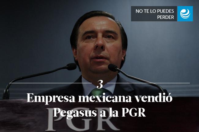 Empresa mexicana vendió Pegasus a la PGR