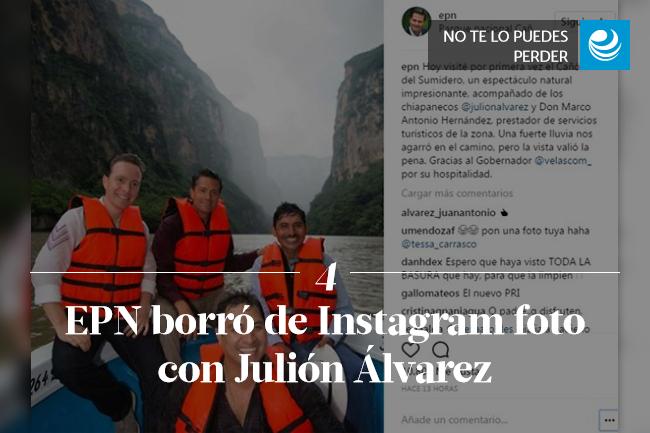 EPN borró de Instagram foto con Julión Álvarez