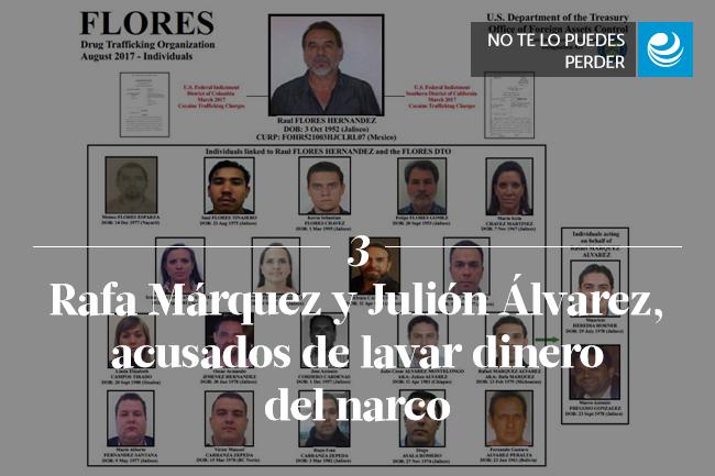 Rafa Márquez y Julión Álvarez, acusados de lavar dinero del narco