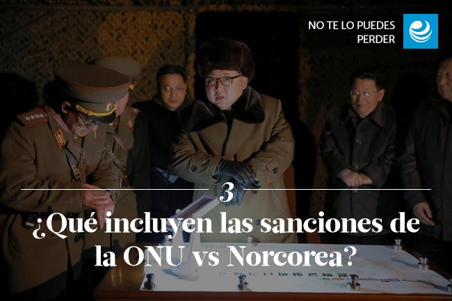 ¿Qué incluyen las sanciones de la ONU vs Norcorea?