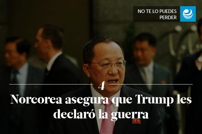 Norcorea asegura que Trump les declaró la guerra
