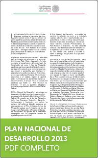 Plan Nacional de Desarrollo 2013